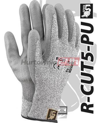 RĘKAWICE OCHRONNE R-CUT5-PU BWS